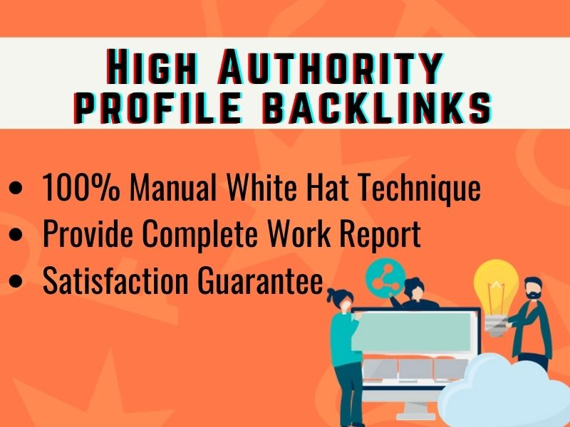 I will give 50+ high authority profile backlinks