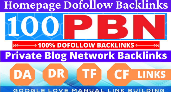 Permanent 100 PBN Backlink All Dofollow High Quality Backlinks with unique websites
