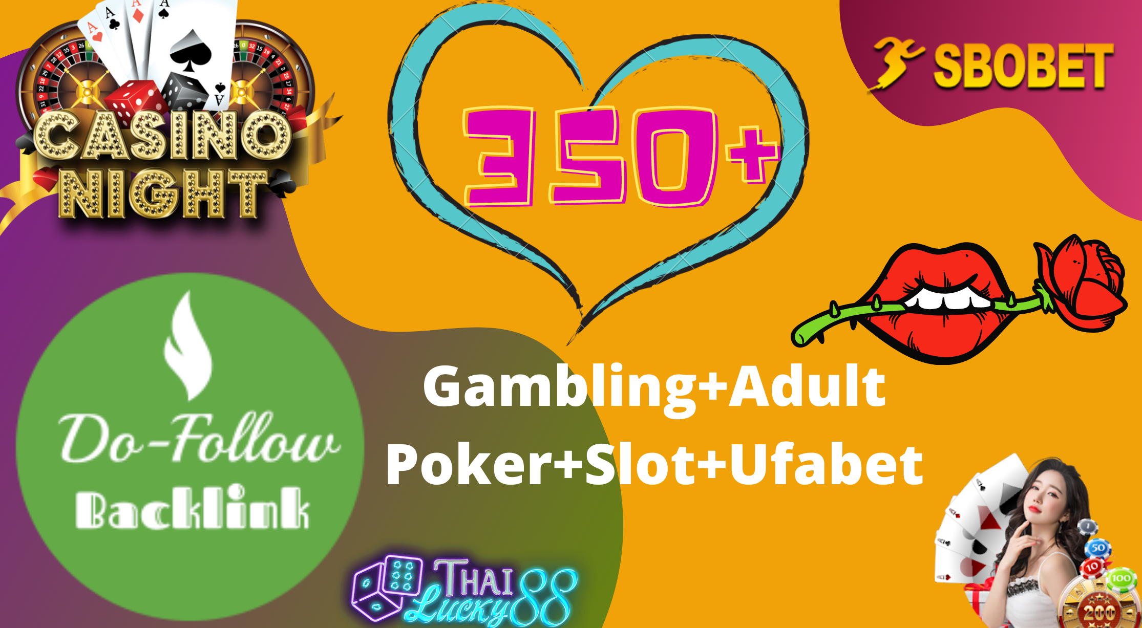 High Quality 350+Dofollow Adult Backlink, Gambling Backlink, Poker for your site