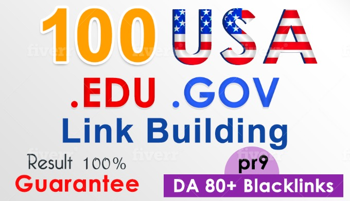 100 USA Edu &Gov high DA backlink service