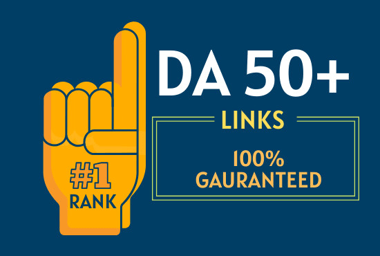 50 backlinks on da 50 plus sites to rank on 1 page