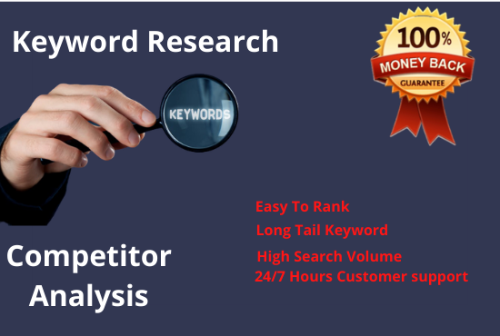 I will provide keyword research and in-depth competitor analysis