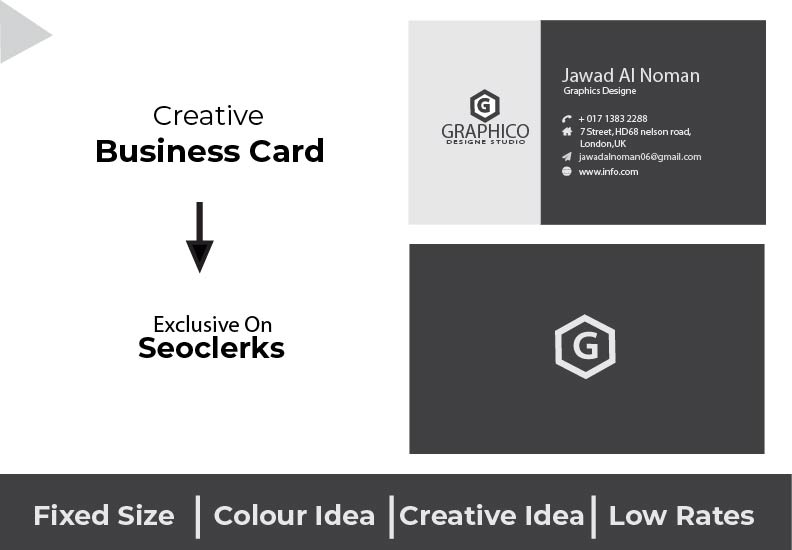 I will make professional Business card design within 24 hours