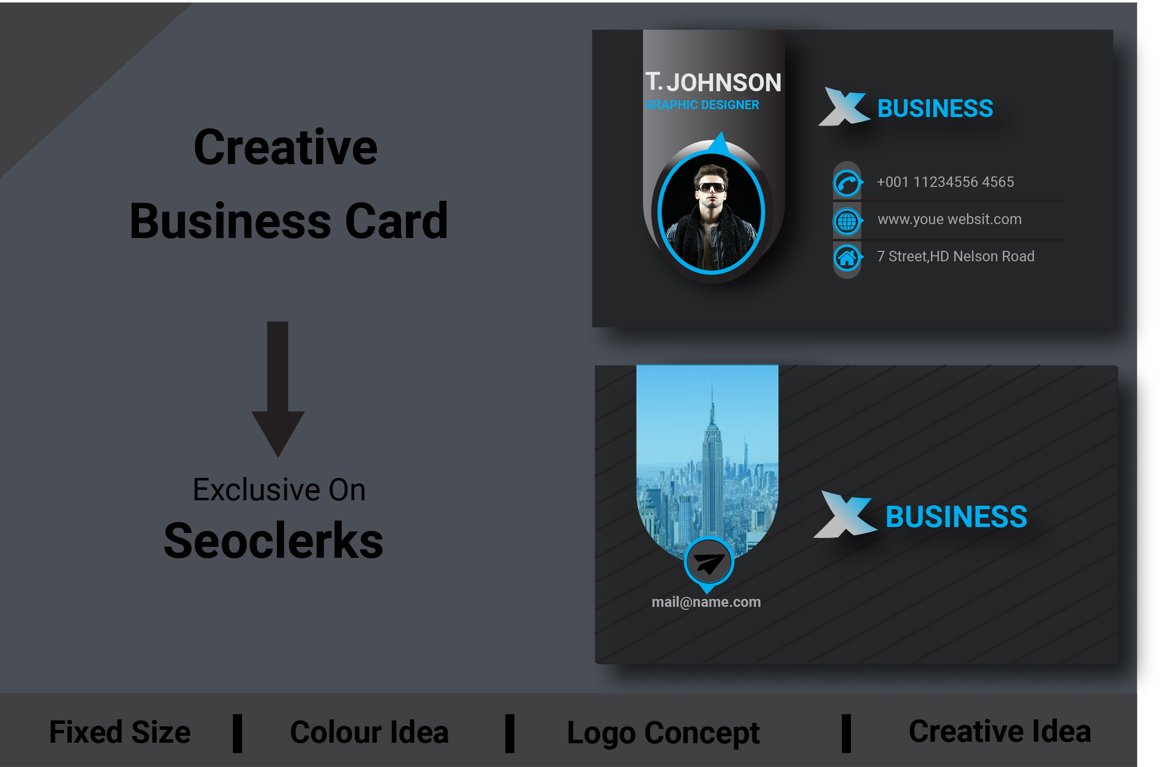 I will do a Creative, Stylish Business Card.