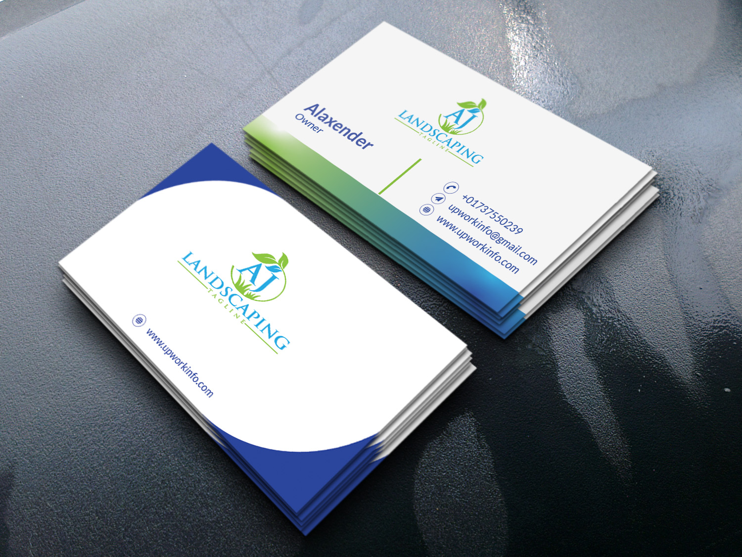 i will make professional stylish business card design