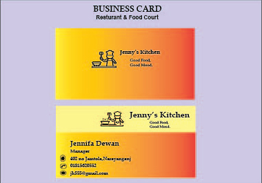 I will create a creative business card
