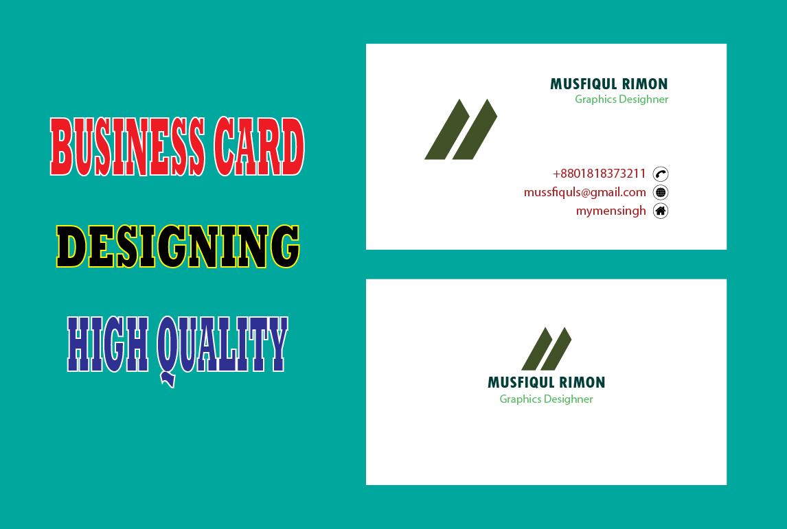 I Will Provide Professional Business Card Design Service.