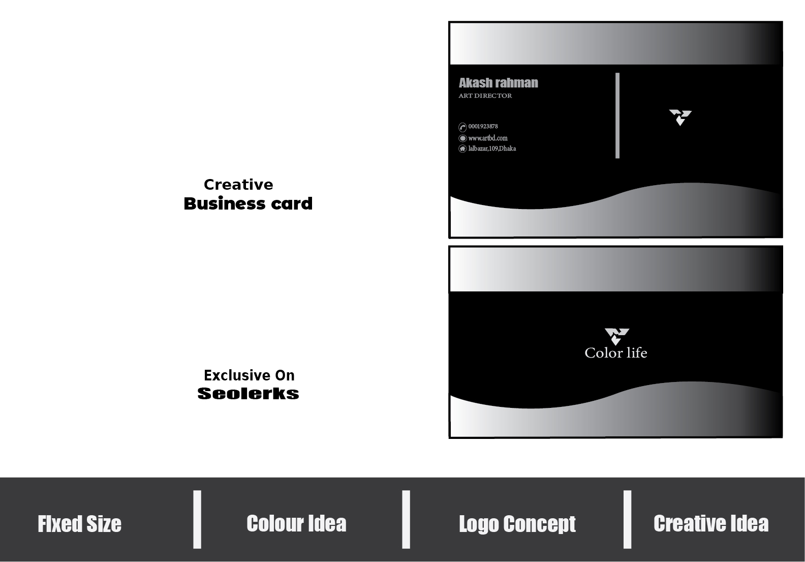Make unique and professional business card for you