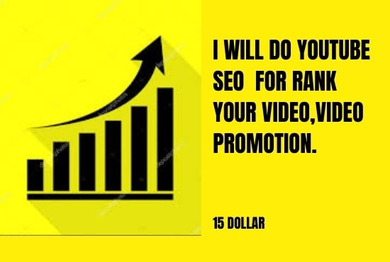 I will do youtube SEO for rank your video, video promotion