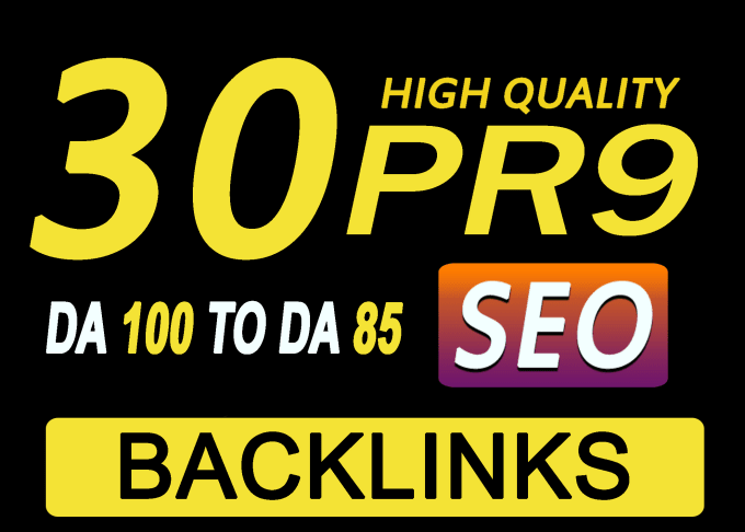 I will submit 30 pr9 DA100 high authority SEO backlinks