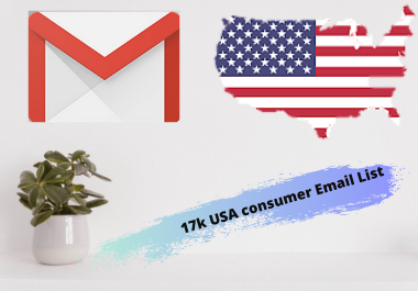 Just 17k USA consumer email list for you