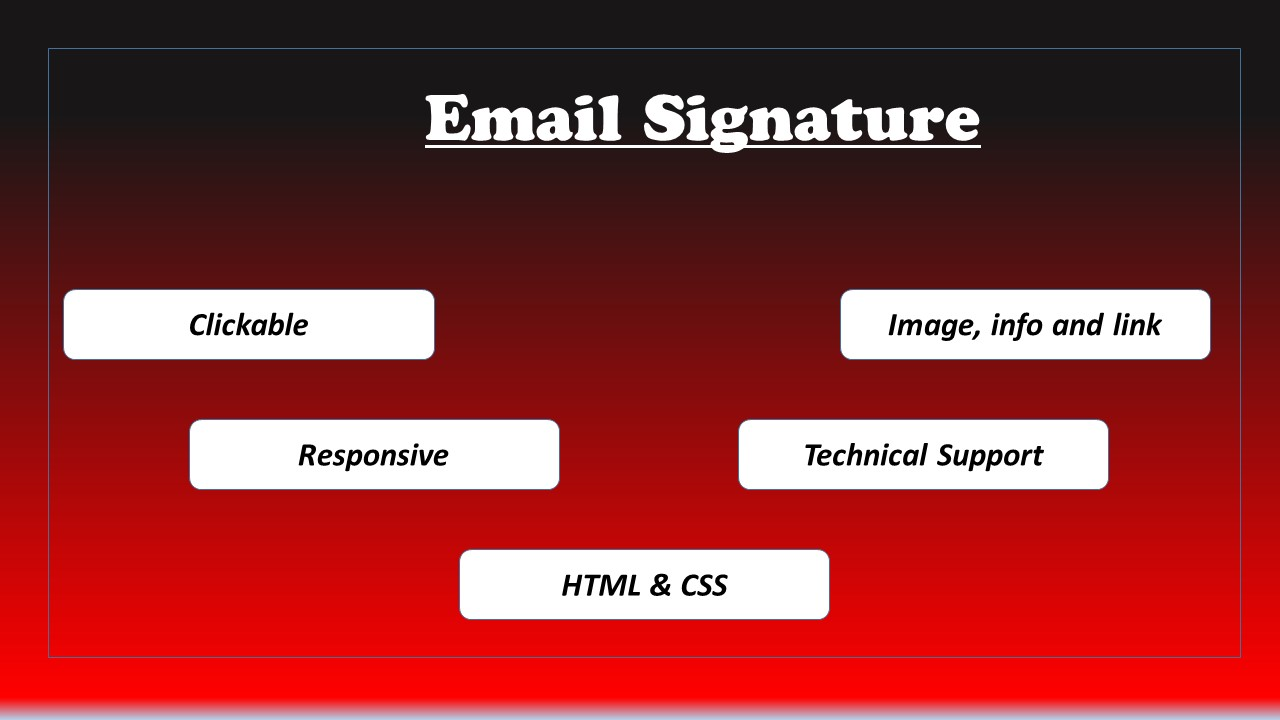 I will provide clickable and responsive email HTML signature