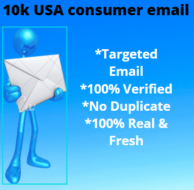 Providing 10K USA Consumer Email List