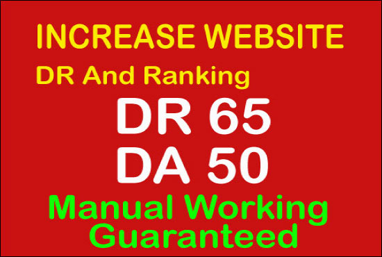 i'll increase Ahref domain rating 60 plus Moz DA 50 plus Guaranteed