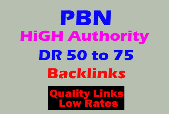 i will provide 50 High DR 50 to 80 plus dofollow bcklinks