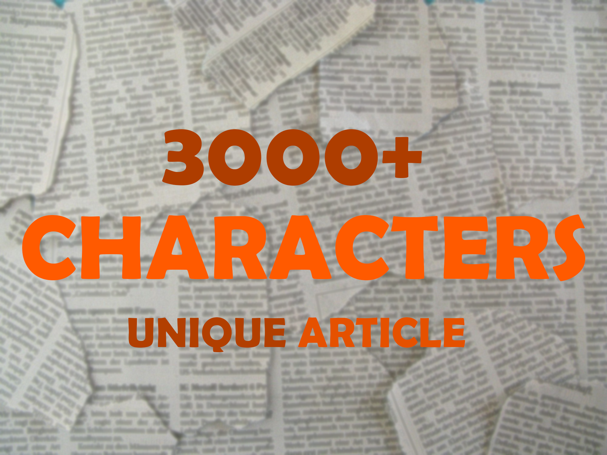 3000+ Characters Unique Valuable SEO Articles