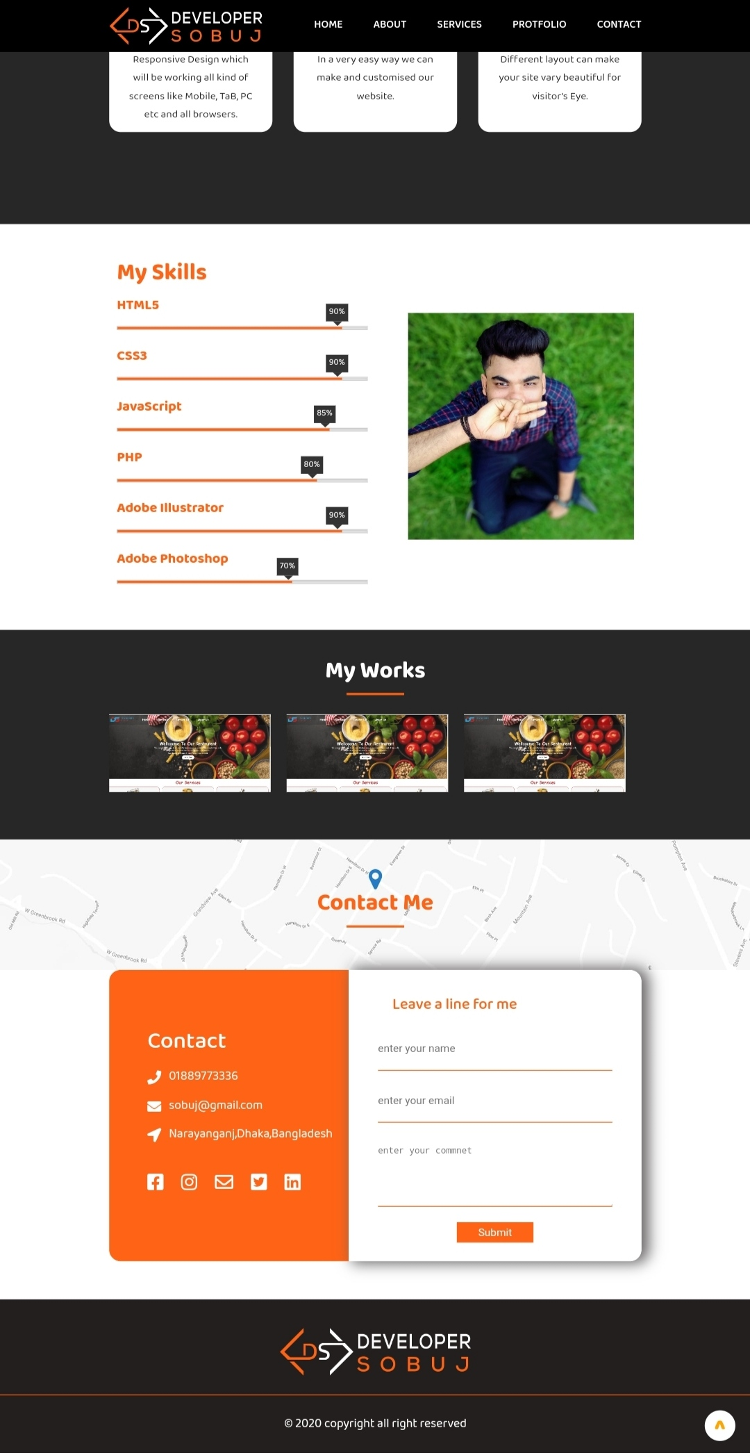 I will design fully responsive website form psd to html,xd to html or any king of images to html