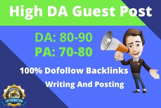 I will publish 6 guest post in high DA,  PA site