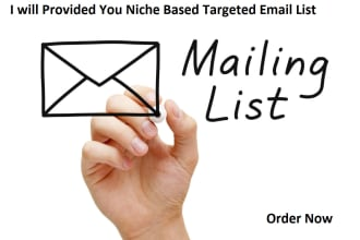 I will provide targeted consumer email list