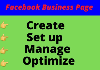 I will create a modern facebook business page