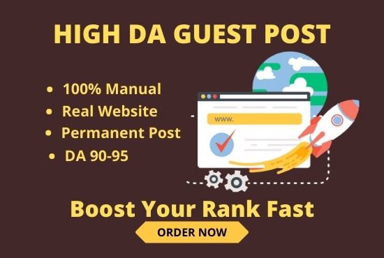 I will provide you High DA Guest post