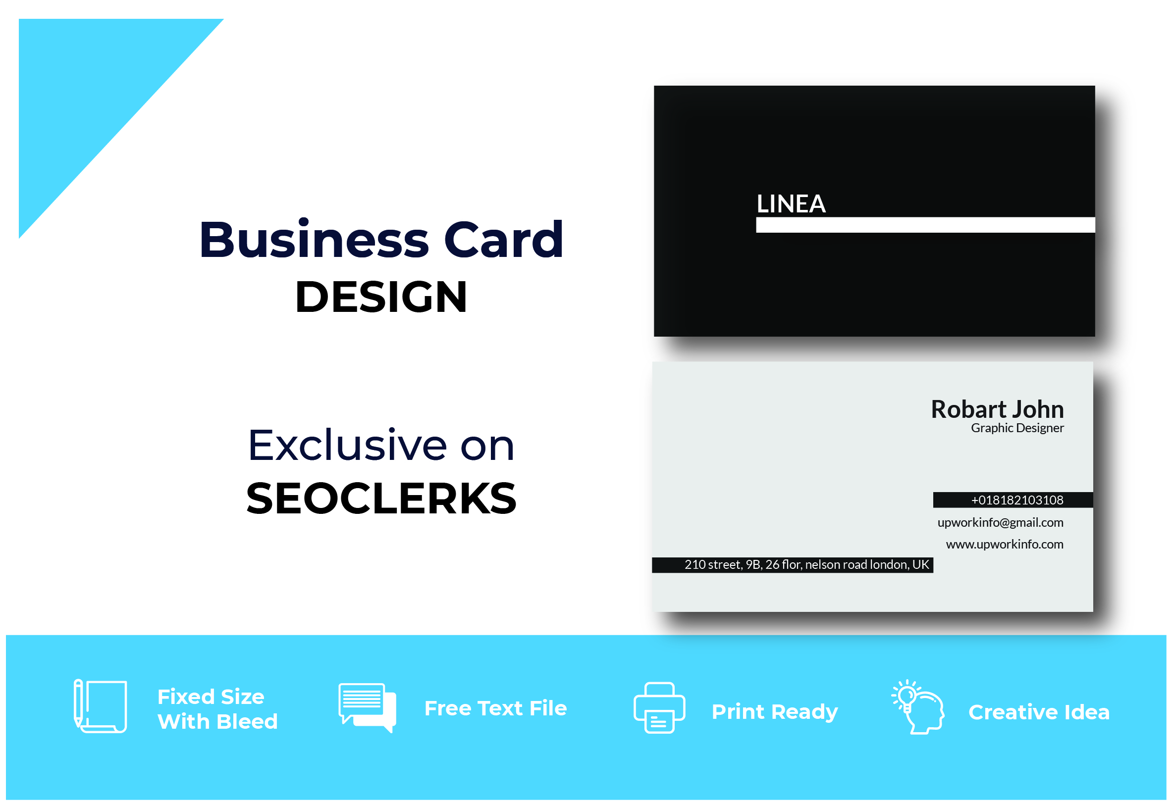 I will designe professional business card