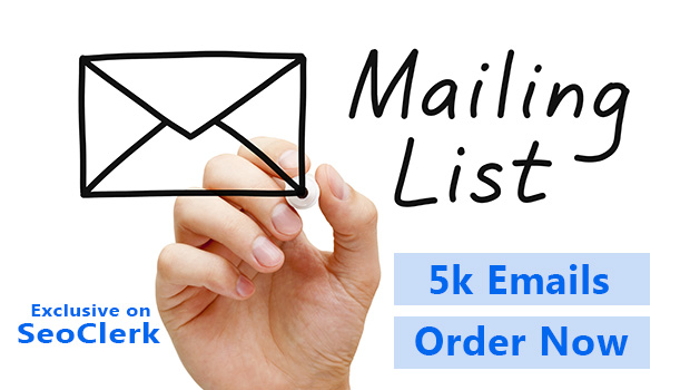Five thousand email available for your business,  USA based.
