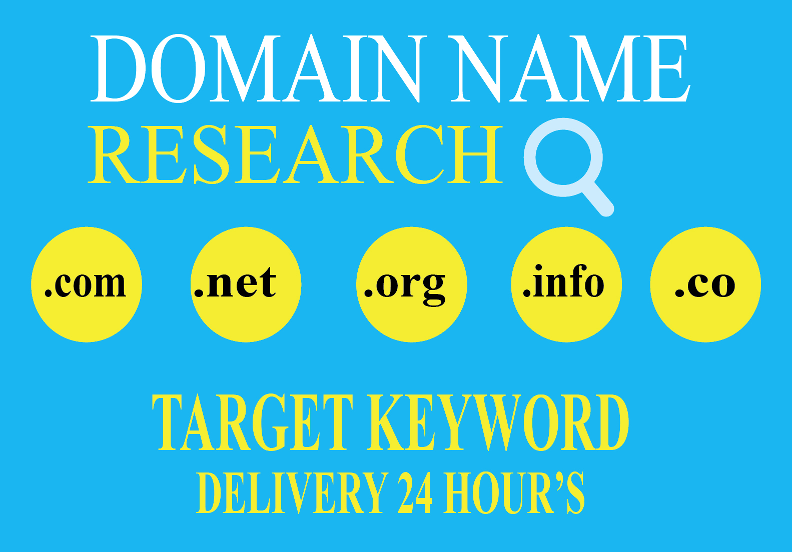 I will research and find amazing domain name ideas that fit you or your business name