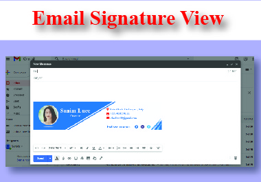 I Will Design Clickable HTML Email Signature