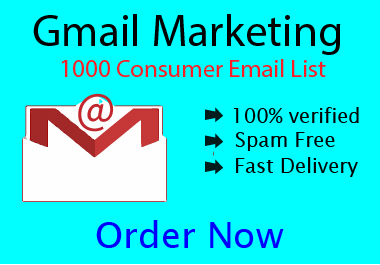 I will provide you fully verified 1000 consumer Email list