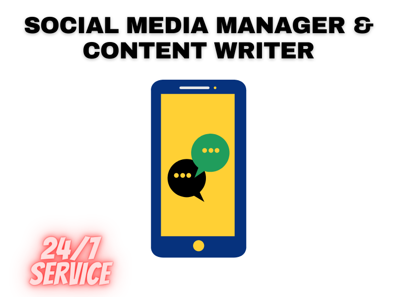 I may be Your Social Media manager And the content writer
