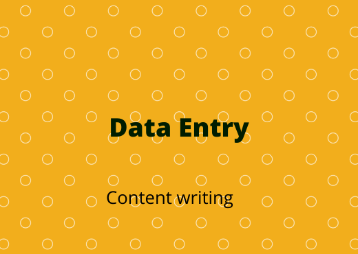 I will do data entry and content writing