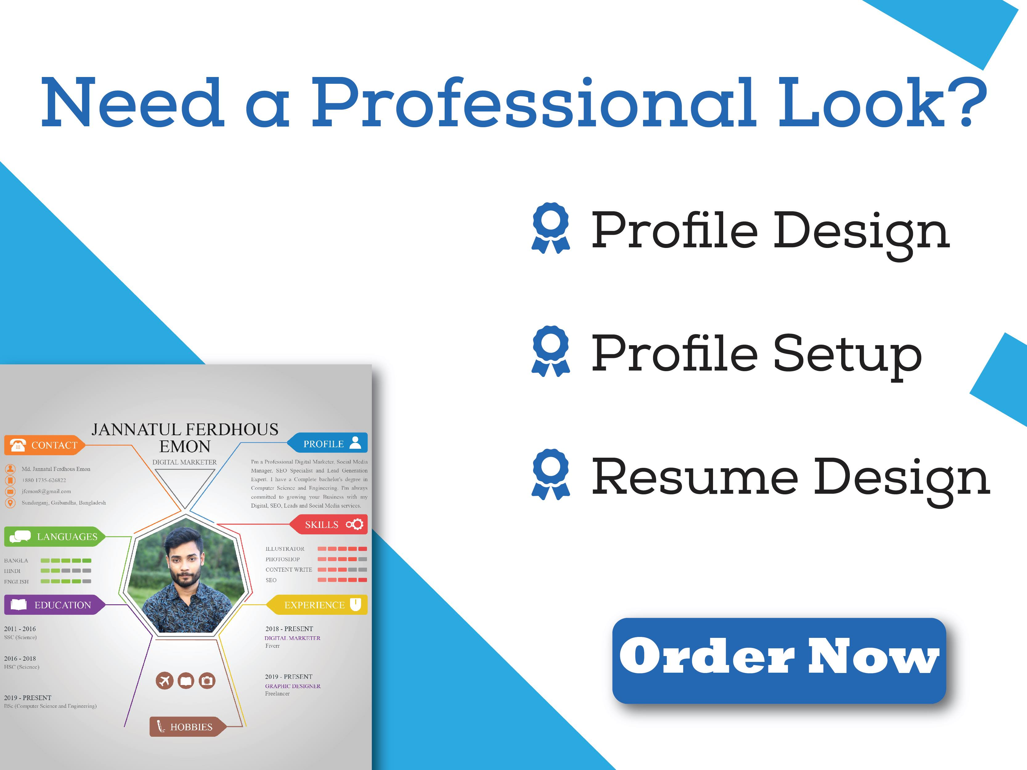 I will Setup and Design Your LinkedIn Profile and Resume Professionally