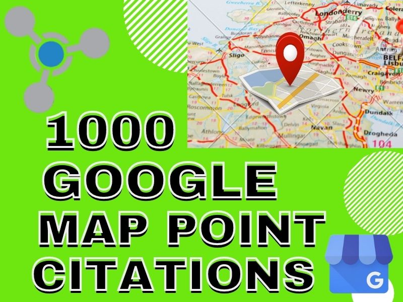 I will do 1000 google map Point Citation
