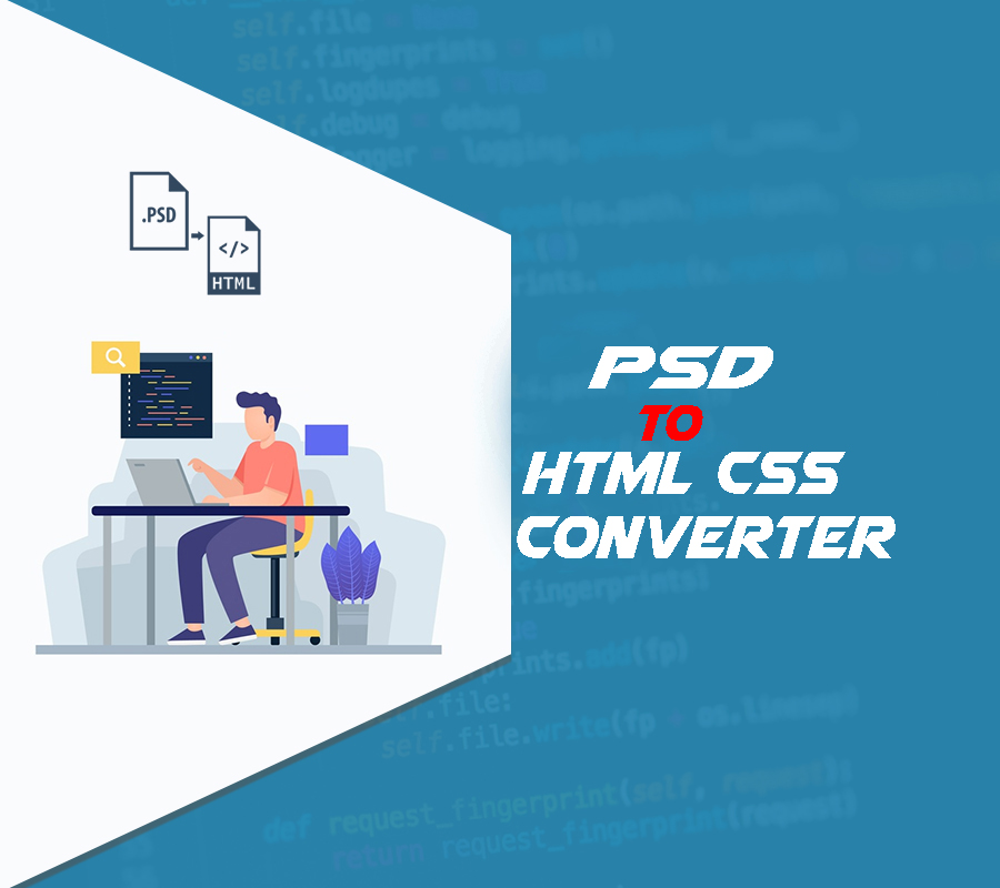 One page website PSD to HTML CSS.