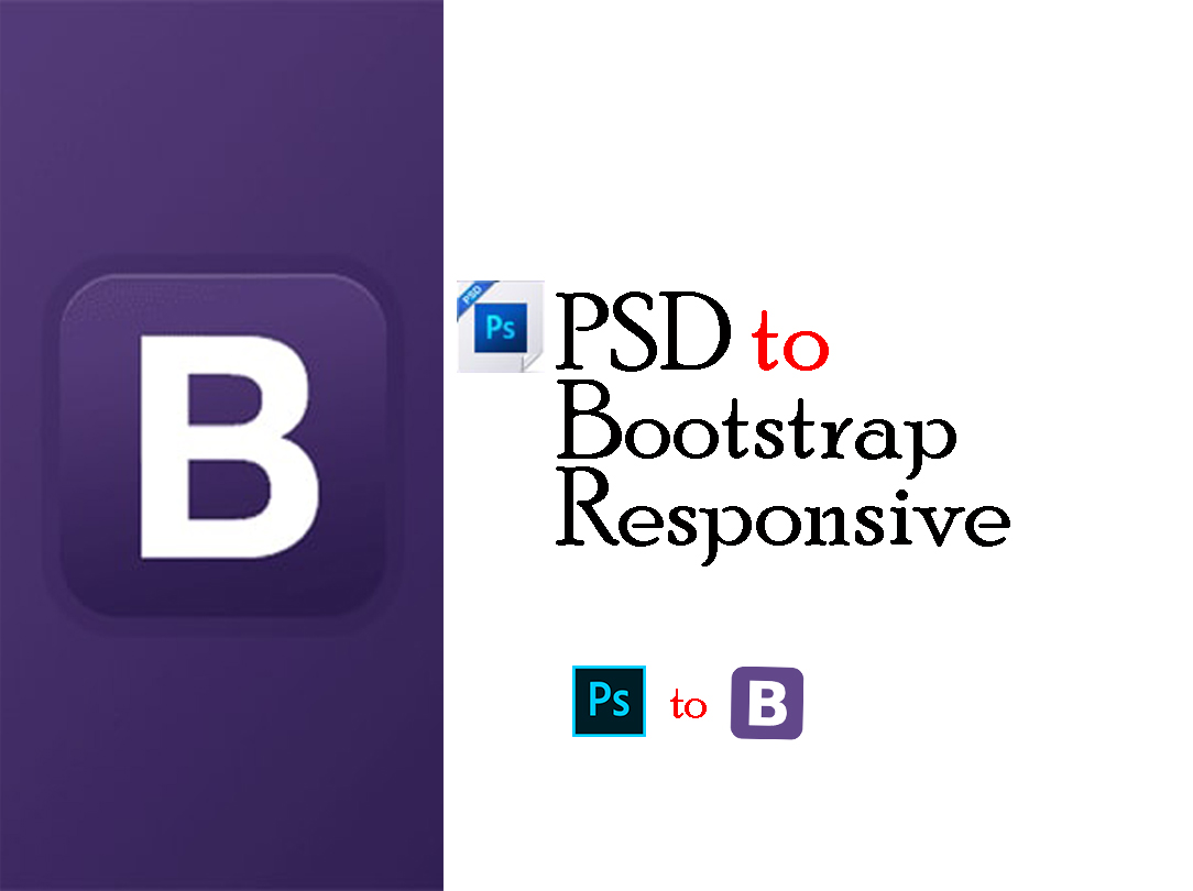 One page website Convert PSD to Bootstrap 4 & Responsive Design.