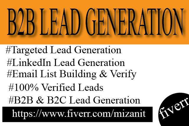 I Will Do B2b and B2c Lead Generation