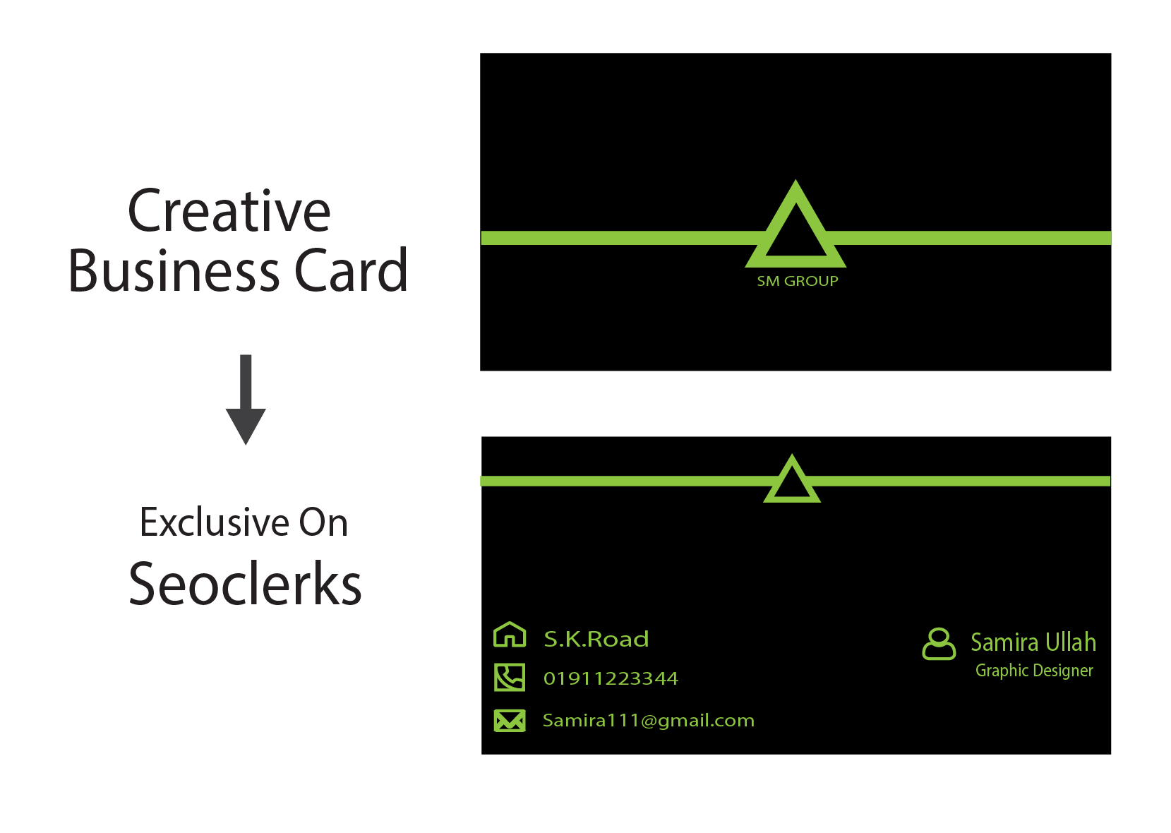 I will make stylish profetional business card for you