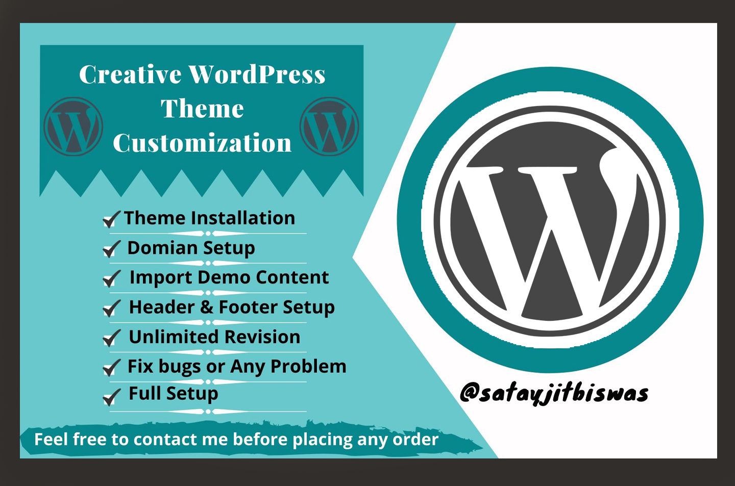 I will build Yours Website using Wordpress and full setup