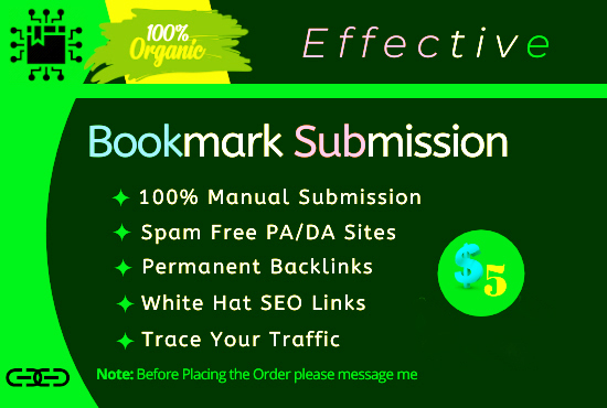 I will do bookmark submission for HQ backlinks and SEO ranker