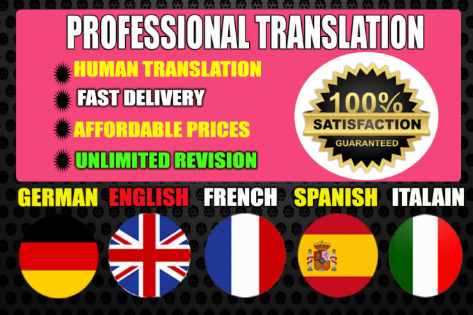 I Will Professionally Translate Your English German Or Spanish French Italian Or Arab Text For 1 Seoclerks
