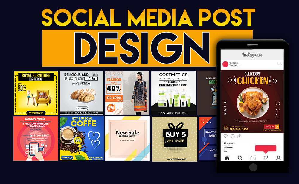 I will design creative social media posts, Banner, YouTube Thumbnail and cover art