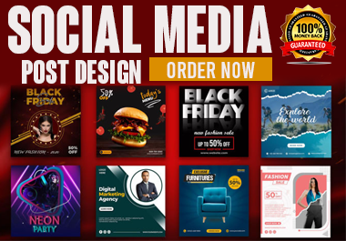 I will designs Instagram, Facebook, Social media posts and YouTube thumbnails