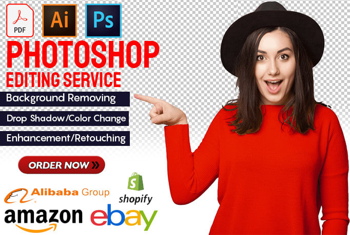 I will do image background removal,  Retuching,  Enhancement,  editing and any photoshop work