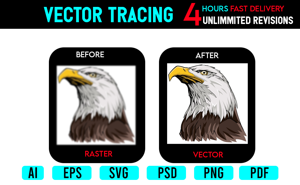 redesign,  redraw,  fix,  update,  modify,  and tracing your logo
