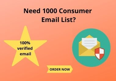 1000 Consumer Email List for You within One Day