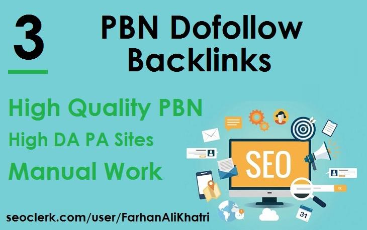 I Will SEO Service Build 3 PBN Dofollow Backlinks