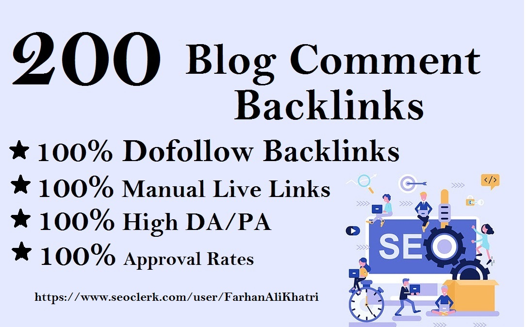 I Will Create 200 Dofollow Blog Comments Seo Service Backlinks