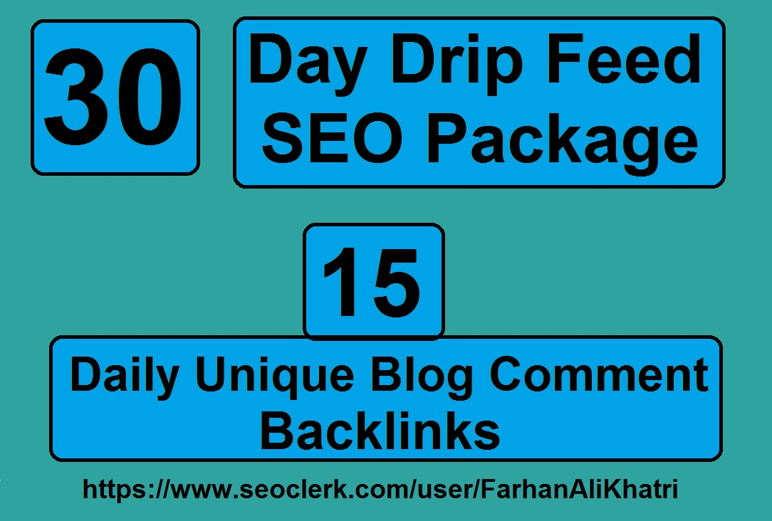 I Will SEO Service 30 Days Daily Update 15 Blog Comments Dofollow Backlinks