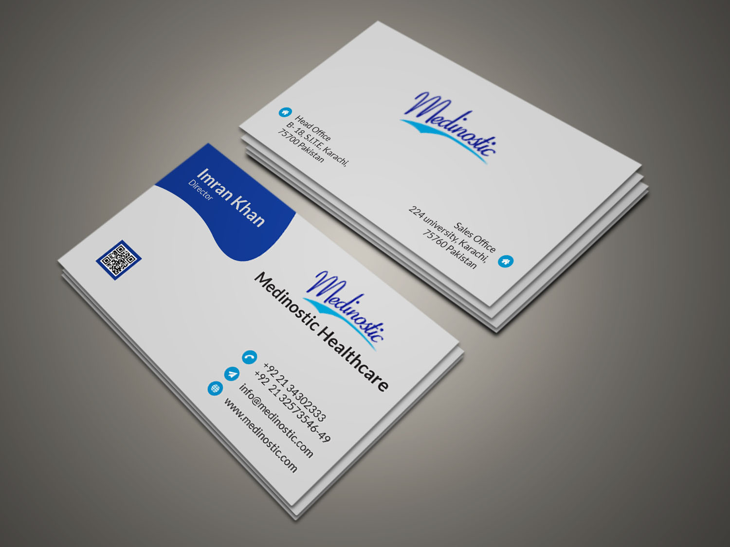 I will do an amazing business card for you.